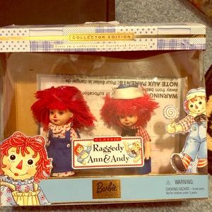 Collectors Edition Barbie Raggedy Ann and Andy